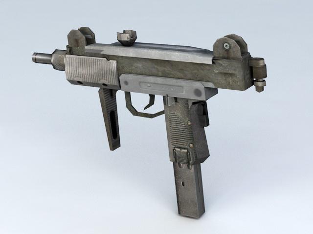 Uzi Pistol 3d rendering