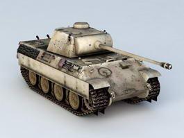 German Panther Tank 3d model preview