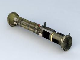 Rocket Launcher Weapon 3d model preview