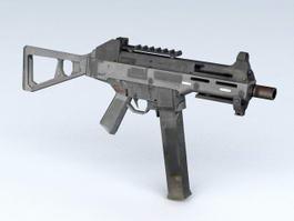 HK MP5 Submachine Gun 3d model preview