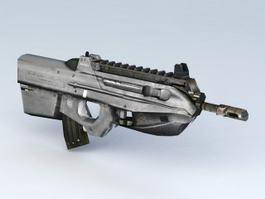 FN F2000 Bullpup Assault Rifle 3d model preview