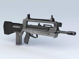 Assault Rifle Weapon 3d preview