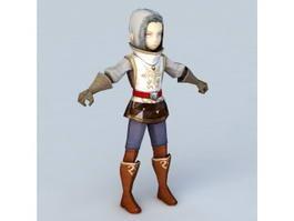 Anime Sorcerer Boy 3d model preview