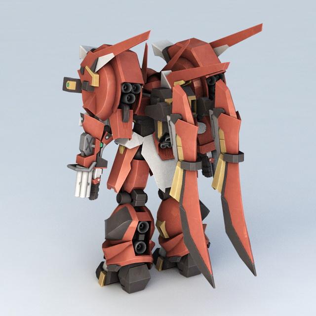 Super Robot Wars Mecha 3d rendering
