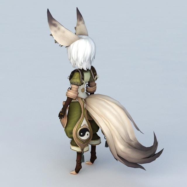Anime fox spirit girl
