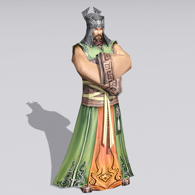 Ancient Chinese Merchant 3d rendering