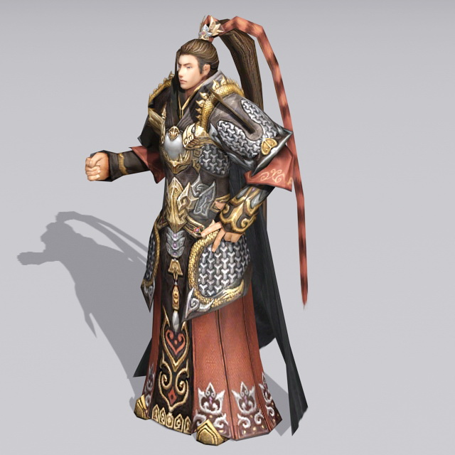 Chinese Imperial Prince Character 3d rendering