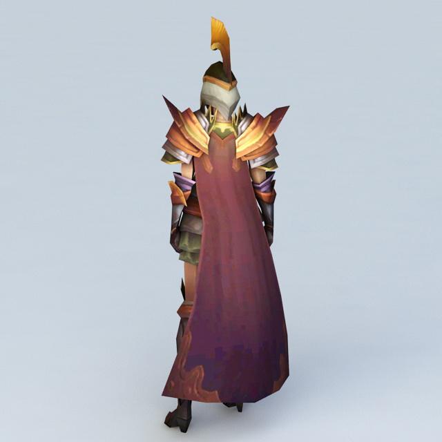 Medieval Female Imperial Guard 3d rendering