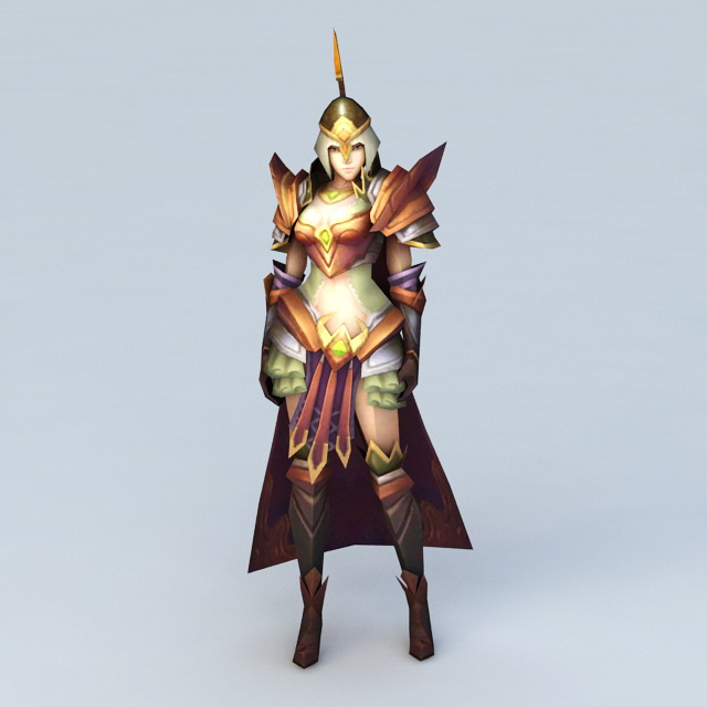 Medieval Female Imperial Guard 3d rendering
