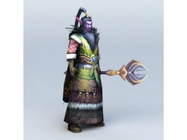Male Night Elf Druid 3d preview
