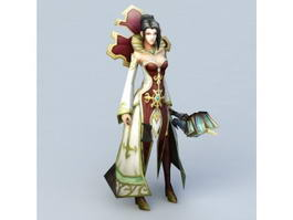 Human Female Priest 3d preview