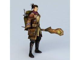 Medieval Adventurer Man 3d preview