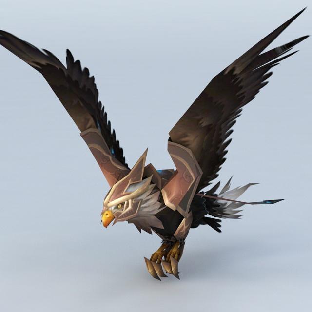 Giant Vulture 3d rendering