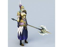 Female High Elf Warrior 3d model preview