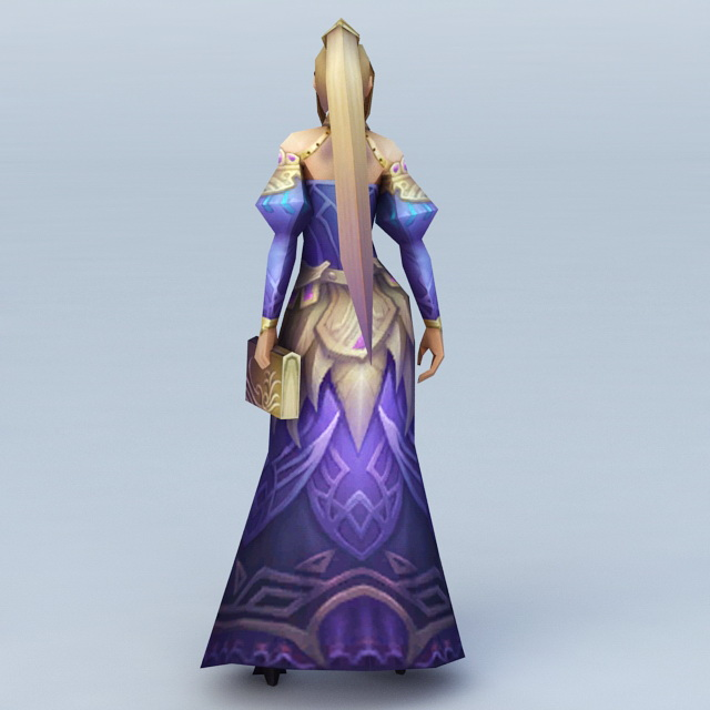 Female Sorceress Character 3d rendering