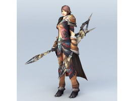 Female Amazon Warrior 3d model preview