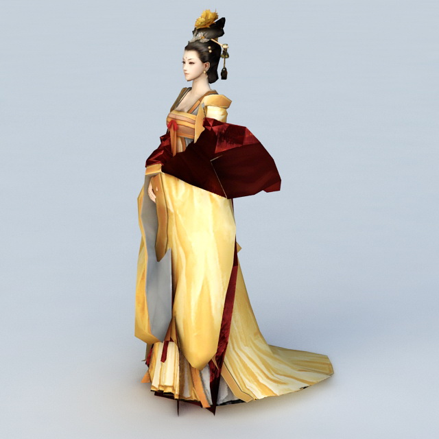 Chinese Empress 3d rendering
