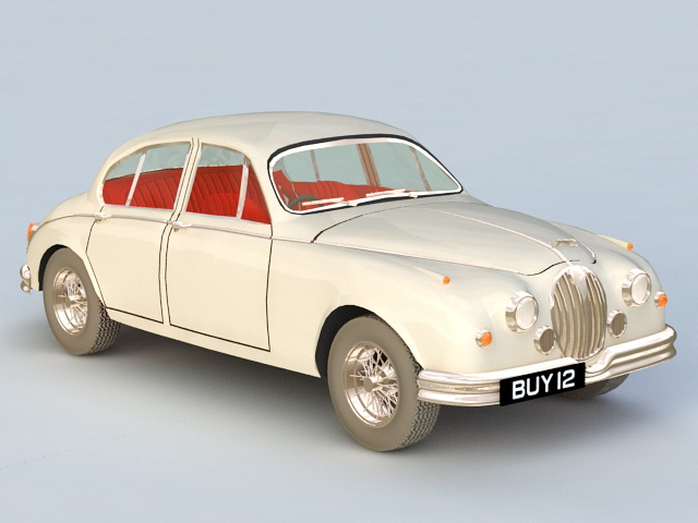 Jaguar Mark 2 Saloon Car 3d rendering