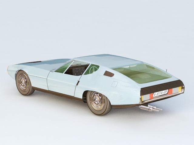1967 Jaguar Pirana Bertone 3d rendering