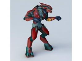 Humanoid Alien Monster 3d preview