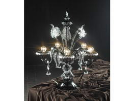 Antique Crystal Table Lamp 3d preview
