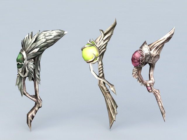 Magic Sticks 3d rendering