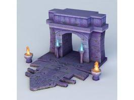 Door of The Tomb 3d preview