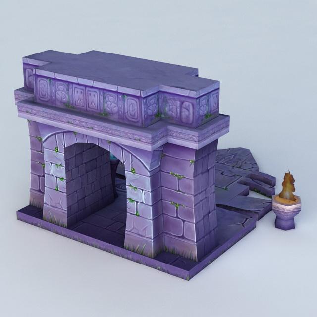 Door of The Tomb 3d rendering