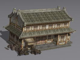Ancient Living Houses 3d model preview