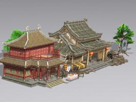 Ancient Chinese Architecture Buildings 3d preview