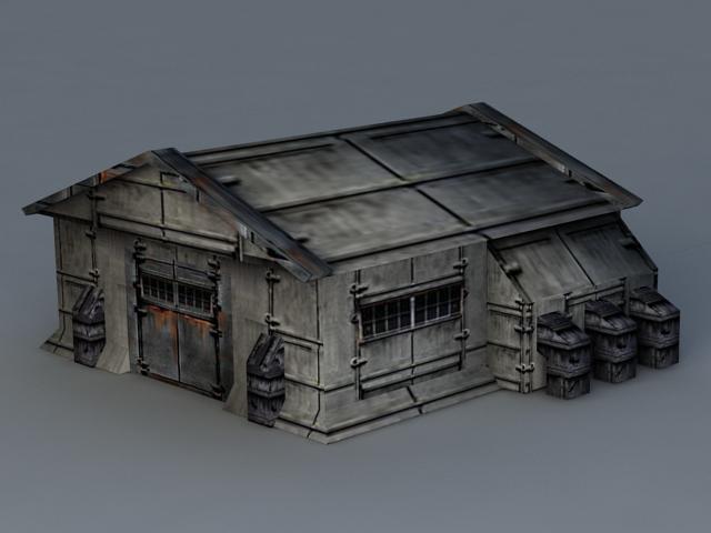 Sci-Fi Barrack 3d rendering