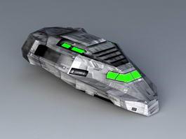 Sci-Fi Transport Shuttle 3d preview