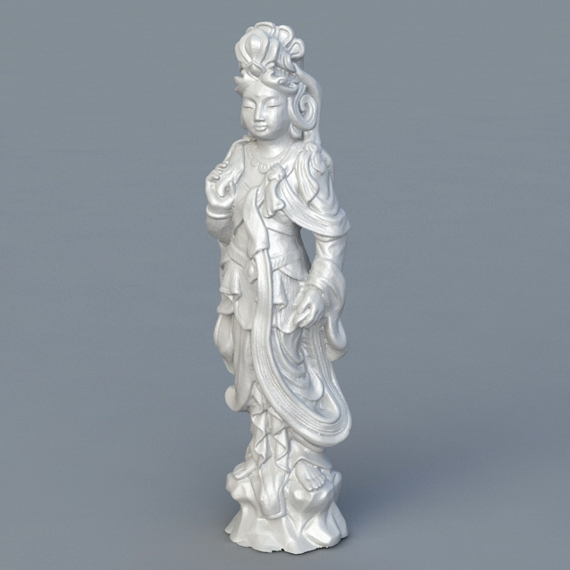 Ancient Chinese Goddess Statue 3d rendering