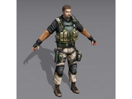 Us Military Special Forces Soldier 3d preview