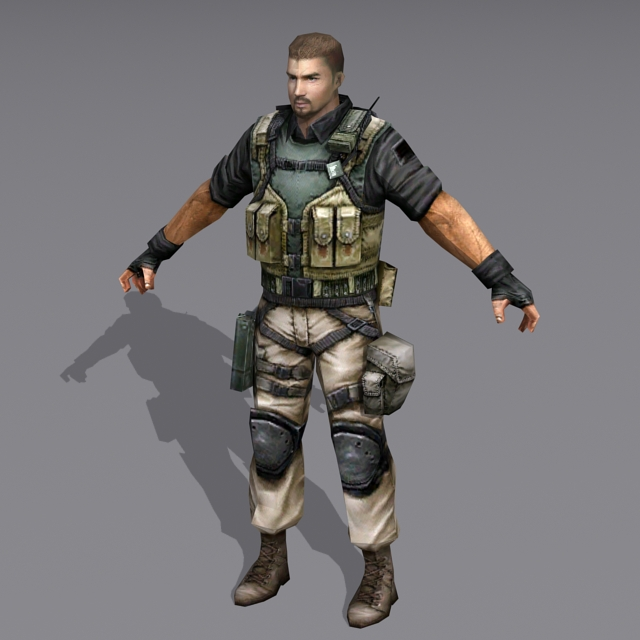 Us Military Special Forces Soldier 3d rendering