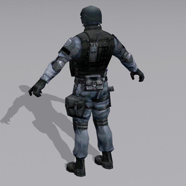 German GSG 9 Operator 3d rendering