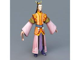 Ancient Man Character 3d preview