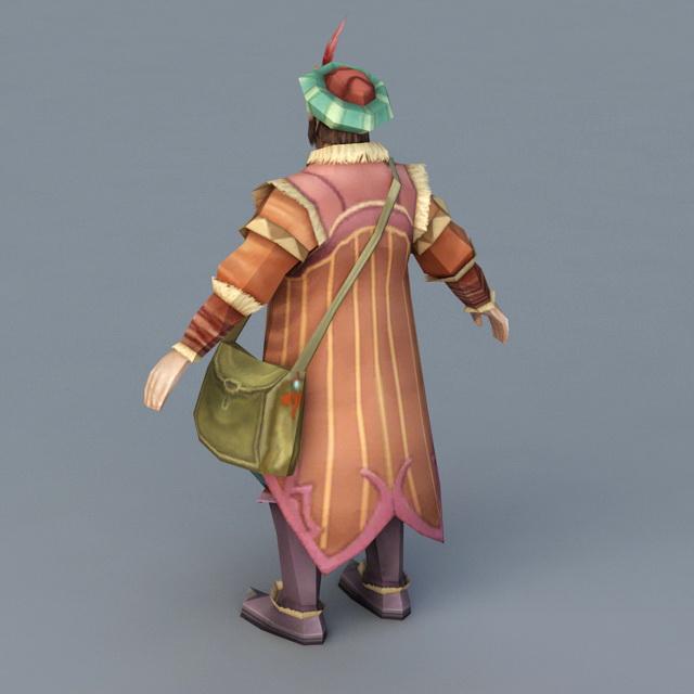 Ancient Persian Merchant 3d rendering