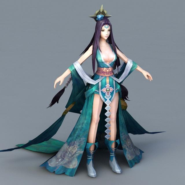 Moon Goddess 3d rendering