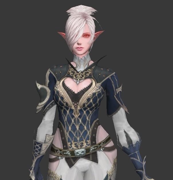 Female Elf Mage 3d rendering