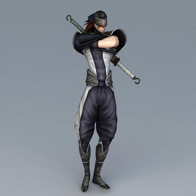 Samurai Ninja 3d rendering
