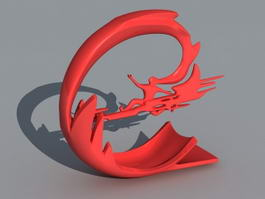 Modern Outdoor Sculpture 3d preview