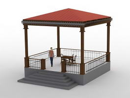Patio Gazebo 3d preview