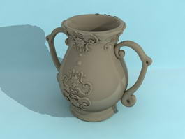 Clay Pottery Vase 3d preview