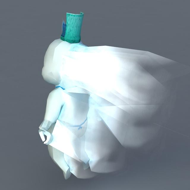 Baby Ghost 3d rendering