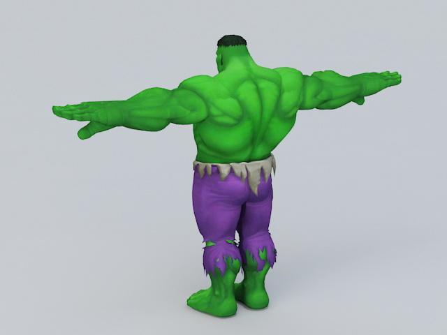Marvel Comics Hulk 3d rendering