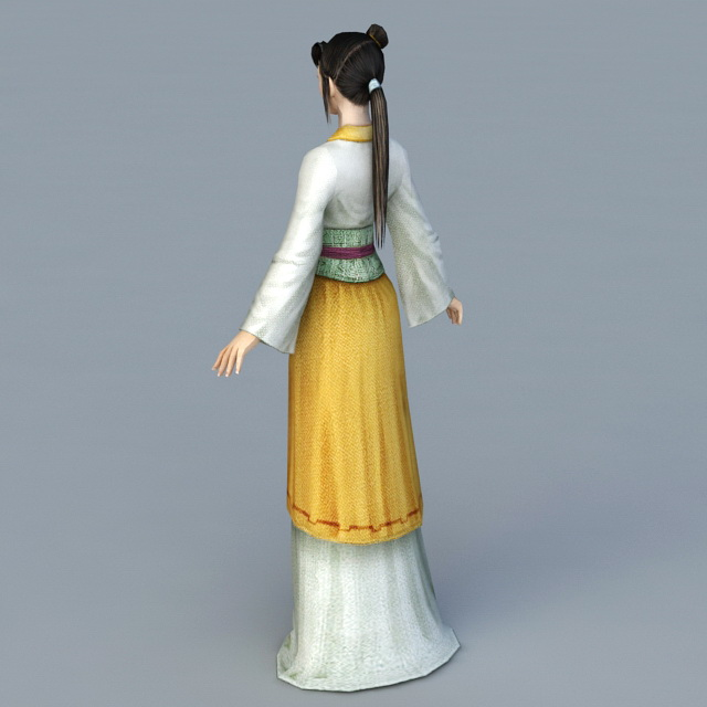 Ming Dynasty Lady 3d rendering
