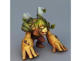 Land Monster 3d model preview