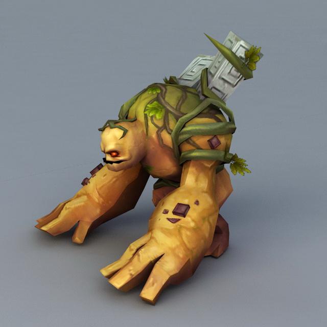 Land Monster 3d rendering