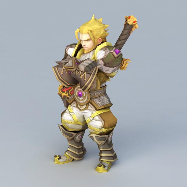 Dragon Nest Warrior Barnak 3d rendering